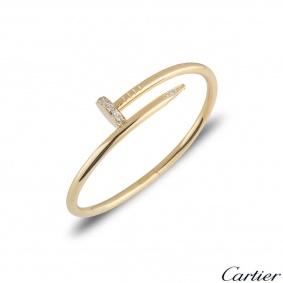 Cartier Yellow Gold Diamond Juste Un Clou Bracelet Size 17 B6048617